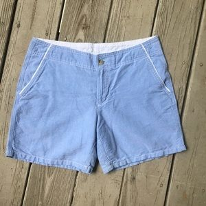 Pale blue 100% cotton shorts—Columbia